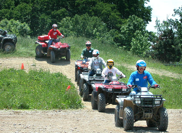 ATV group ride