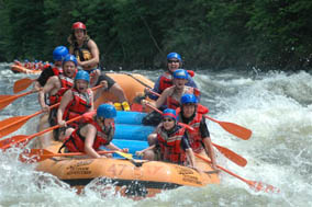 Maine whitewater rafting packages and lodging